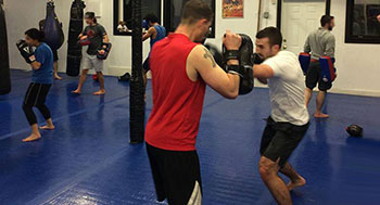 student training mma class during 7-day free trial