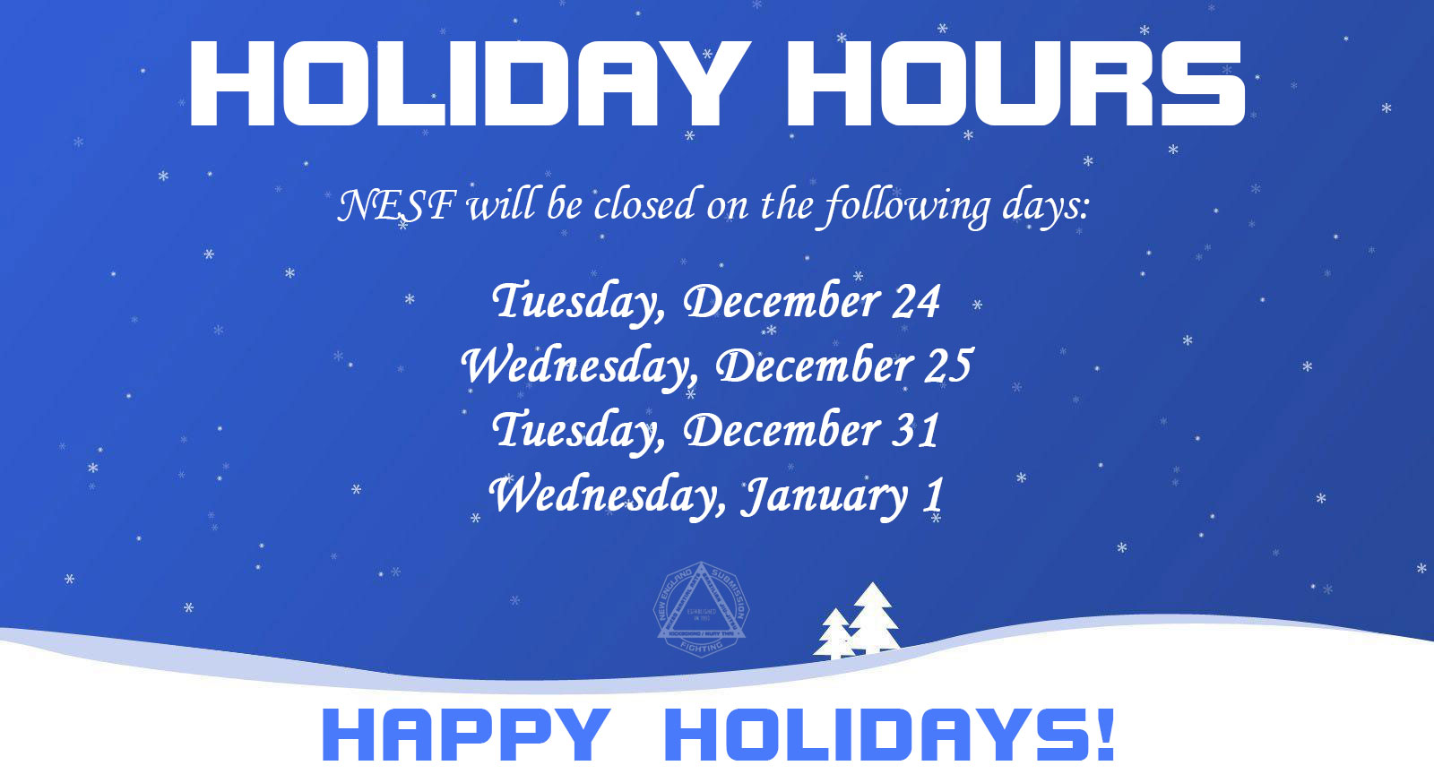 NESF holiday-hours